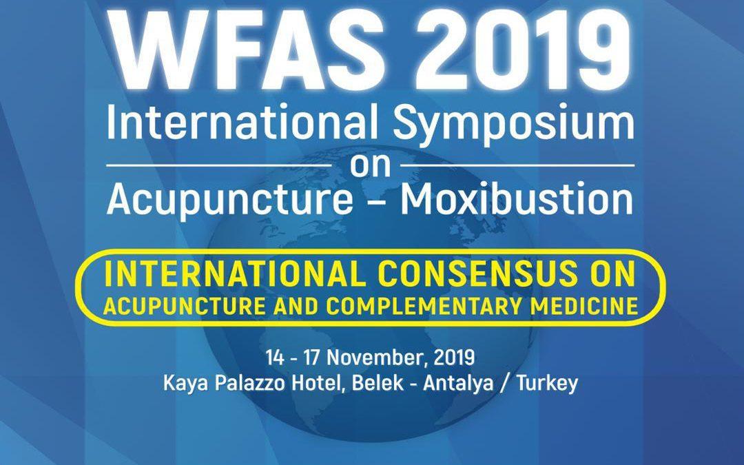 WFAS 2019 – Dünya Akupunktur Kongresi: WFAS Kongresi, 14-17 Kasım 2019, Belek, Antalya, Türkiye