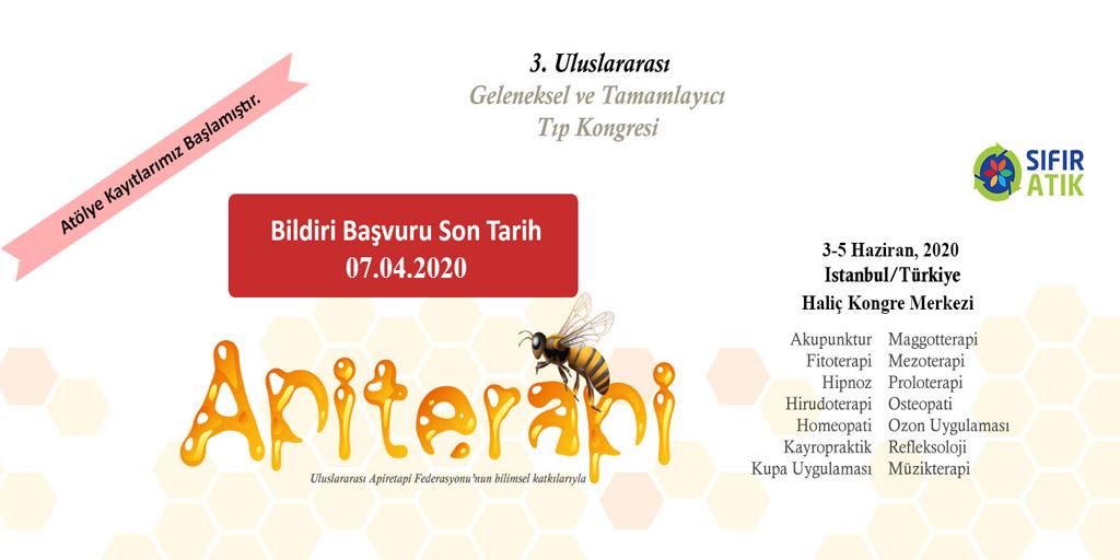 GETAT 2020 -3. Uluslararası Geleneksel ve Tamamlayıcı Tıp Kongresi, 03-05 Haziran 2020, İstanbul, Türkiye