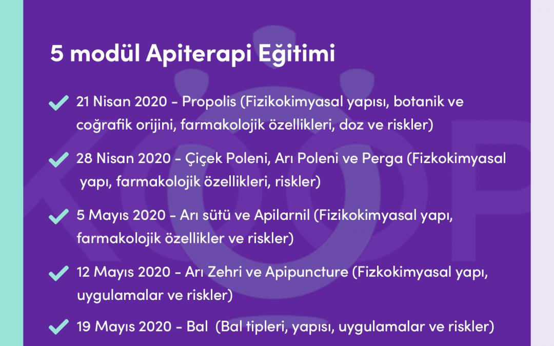 Apiterapi Eğitimi -Online Apiterapi Eğitimi, 21 Nisan-19 Mayıs 2020, Ankara, Türkiye