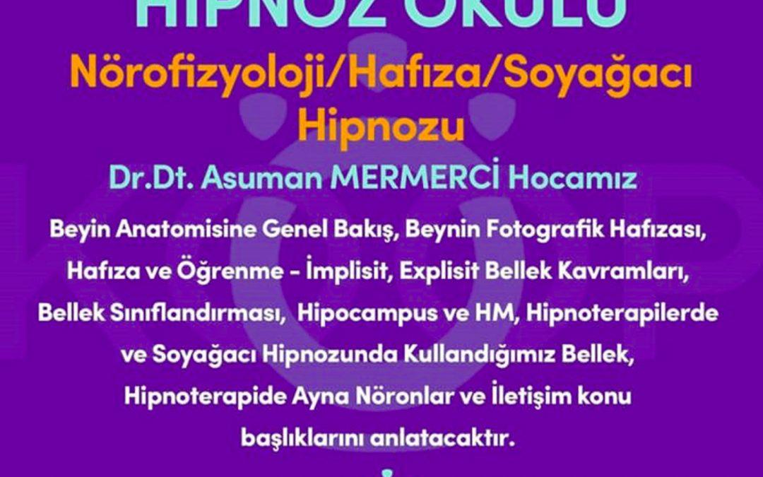 HİPNOZ OKULU – YAZ OKULU 2020, 3. MODÜL: NÖROFİZYOLOJİ & HAFIZA & SOYAĞACI HİPNOZU MODÜLÜ, 02-10 Temmuz 2020 | Ankara, Türkiye